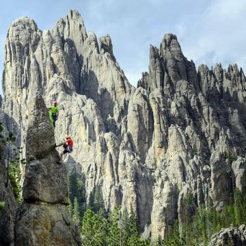 Rock Climbing, Custer State Park