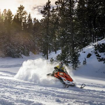 Snowmobiling, Black Hills