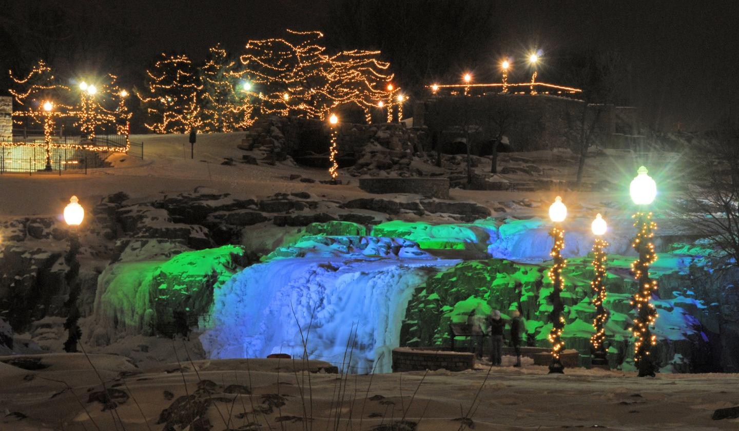Winter Wonderland, Falls Park, Sioux Falls