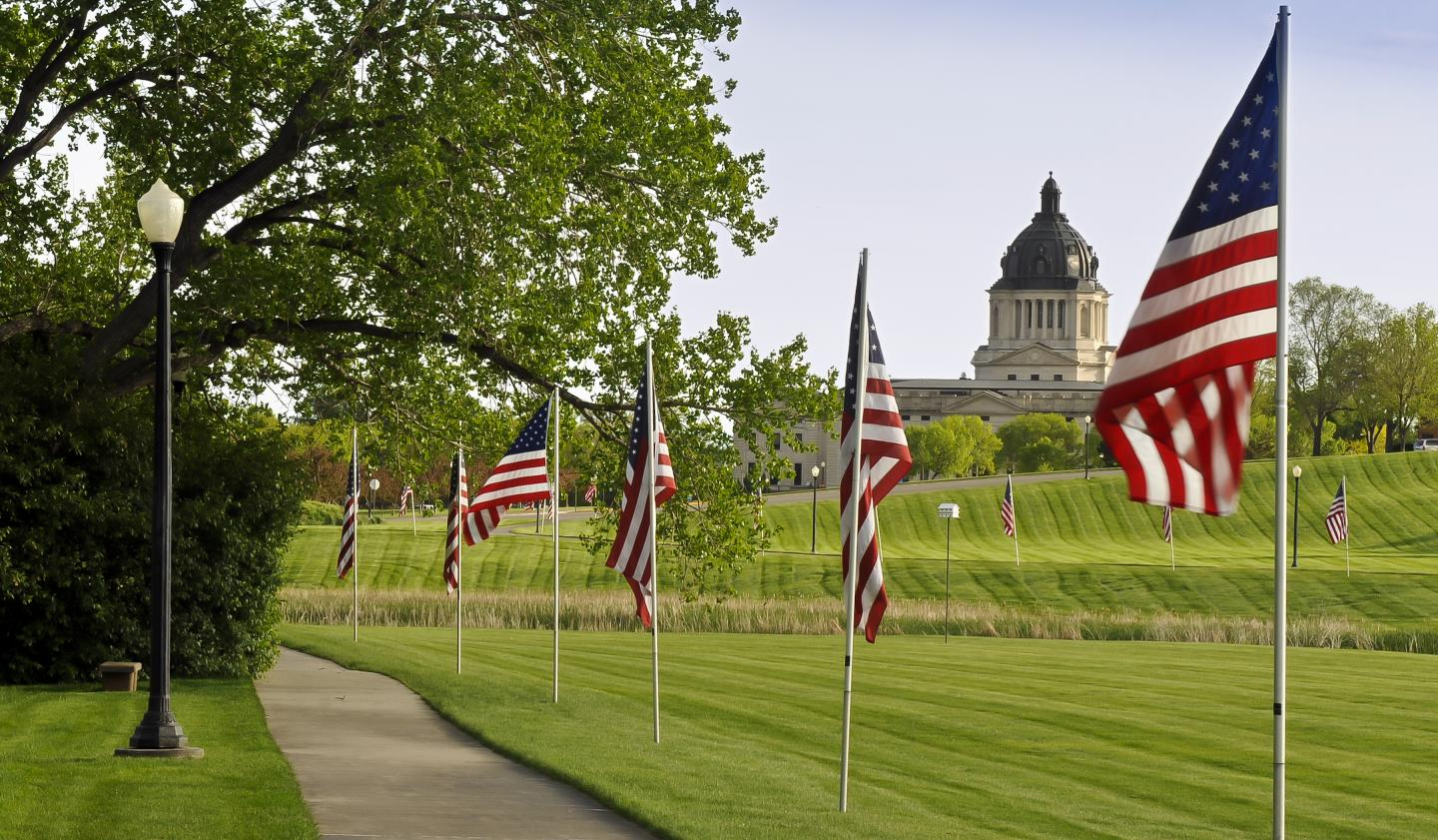 State Capitol in Pierre, from Hilgers Gulch