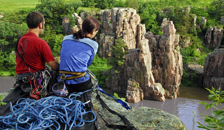 Rock Climbing, Palisades State Park