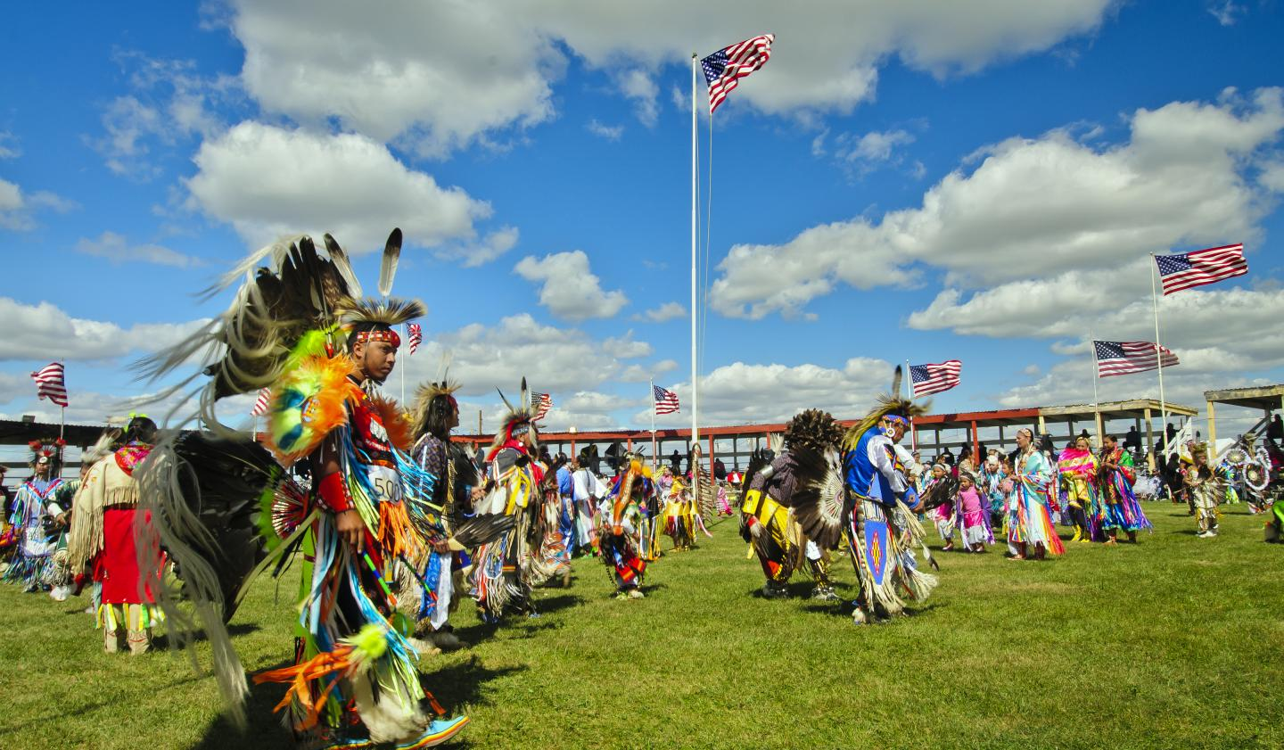 Wacipis or powwows are Native American dances.