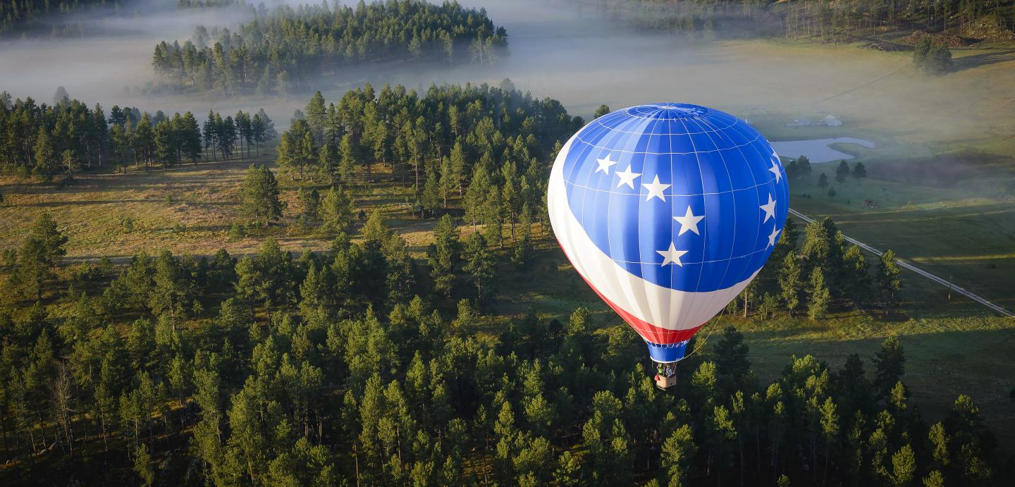 hot air ballooning in the Black Hills