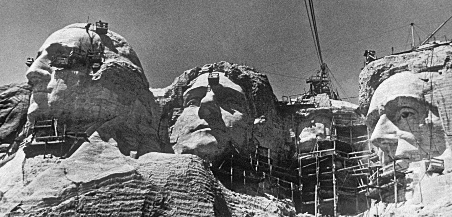 Image result for mount rushmore being built