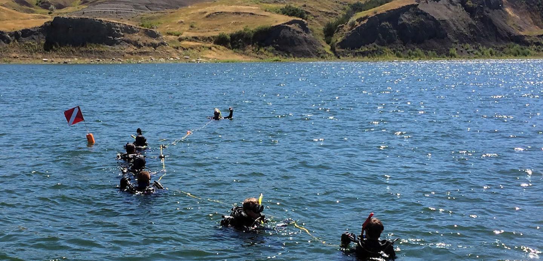 Scuba diving, Lake Oahe