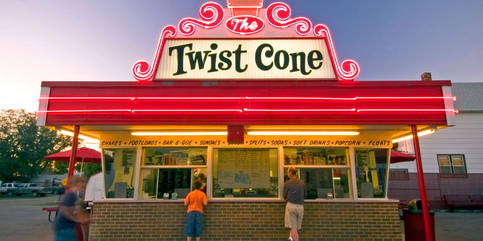 The Twist Cone exterior - Aberdeen