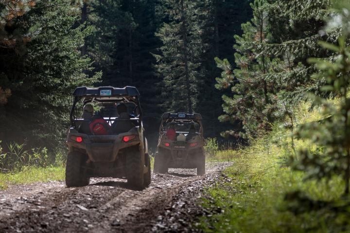 ATVs on Black Hills National Forest South Dakota Trail