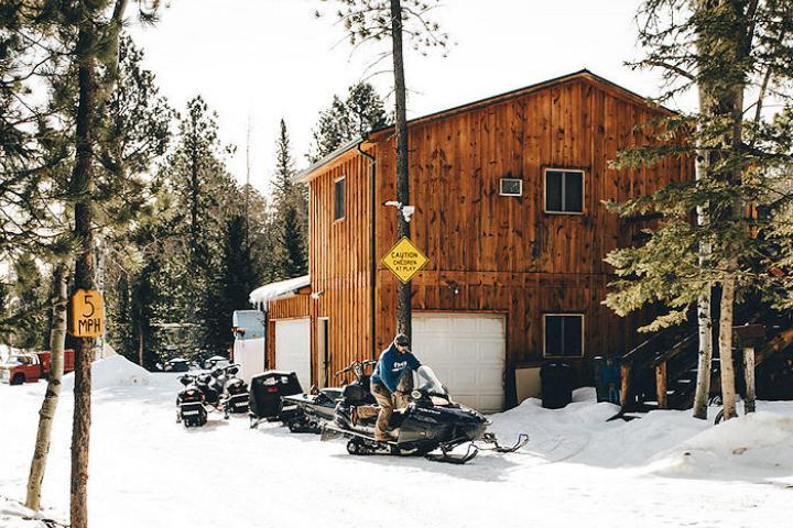 Mystic Hills Hideaway snowmobiling