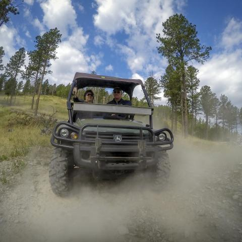 ATV riding in the Black Hills