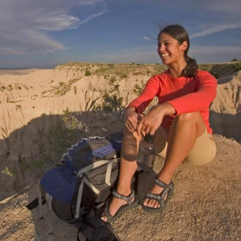 Hiking, Badlands National Park