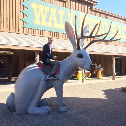 Boaz at Wall Drug Store, Wall