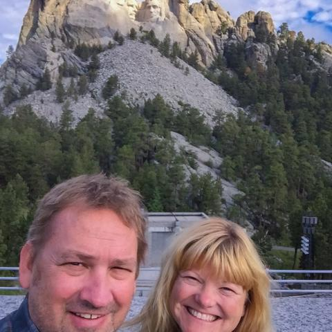 Dave and Deb at Mount Rushmore