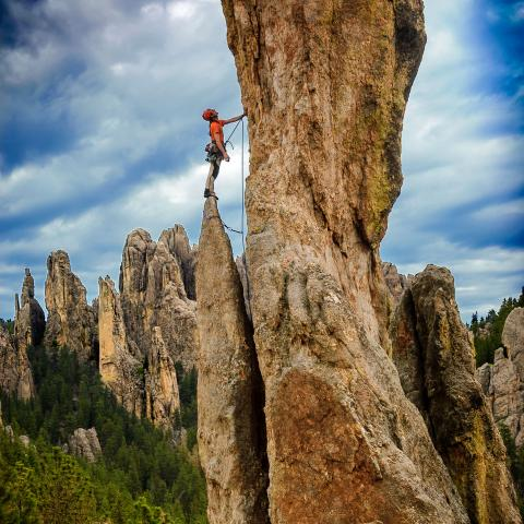 Rock Climbing Needles CSP BH National Forest SD