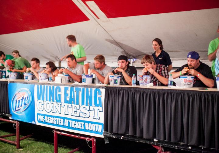 Wing Eating Contest | Swiftel Center