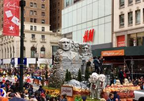 South Dakota float in Macy's Day Parade